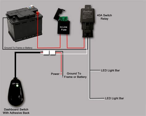Bar Led Wire Diagram by Light Bar Wire Diagram Electrical Website Kanri Info