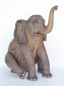 5' Sitting Elephant