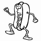 Dog Coloring Hotdog Colorare Disegni Panino Colouring Dogs Sheets Fast Walking Printable Panini Hamburger Burger Sosisli Chips Boyama Boyamalar Sevenlere sketch template