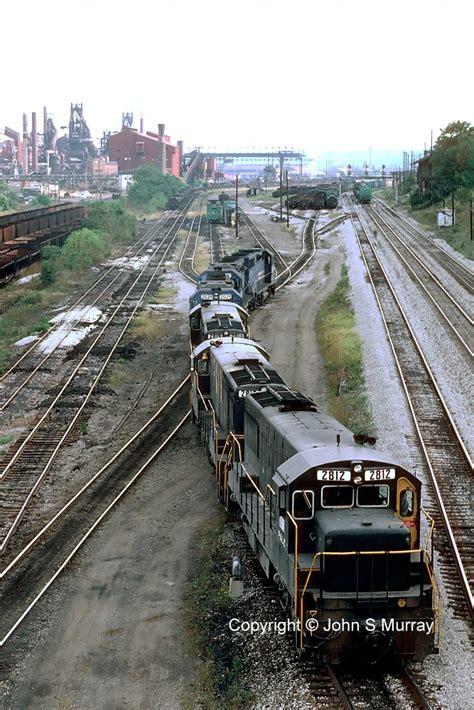 pittsburgh lake erie railroad u28bs at ltv steel mill