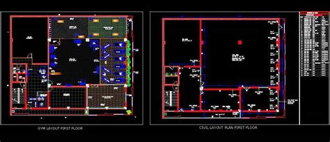 gym layout plan dwg drawing detail autocad dwg plan