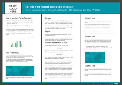 poster powerpoint template  inches jk