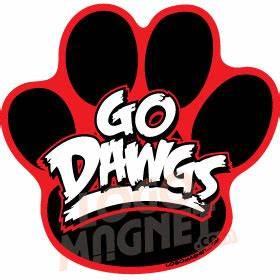 GO-DAWGS-DOG-PAW-2 jpg Custom Car Magnet - Logo Magnet