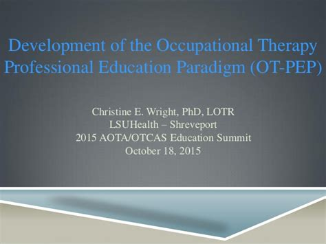 development   ot professional education paradigm