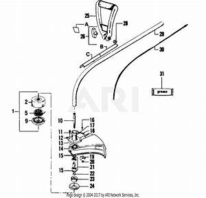 Poulan 1700a Gas Trimmer Parts Diagram For Cutting Head