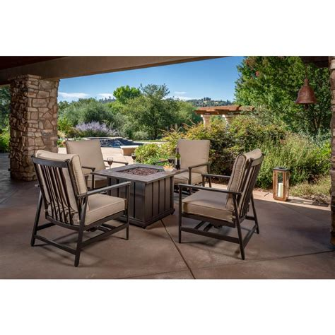 fire pit sets outdoor lounge furniture  home depot