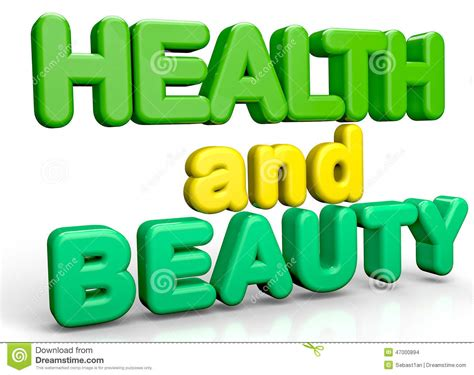 Health And Beauty Stock Illustration - Image: 47000894