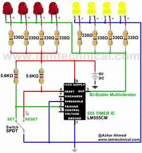 555 Bistable Timer Circuit