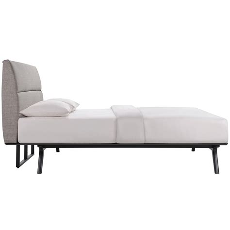 modern platform beds alberta gray queen bed eurway
