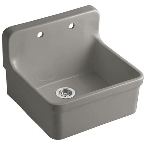 Kohler Gilford Sink Specs by Shop Kohler Gilford Single Basin Drop In Porcelain Kitchen