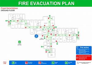 Office fire escape plan template pictures to pin on for Fire evacuation plan template for office