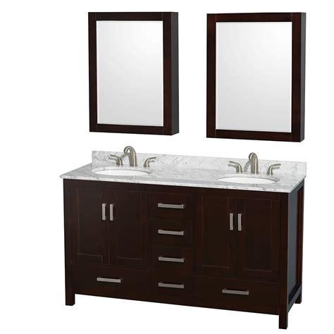 60 inch bath vanity double sink sheffield 60 inch double sink bathroom vanity espresso