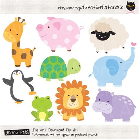 animal clipart clip art baby animal jungle clipart zoo clipart