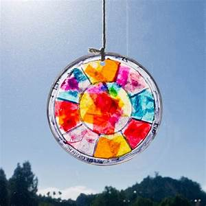 Easy Stained Glass Window Hanging Craft For Kids: Use ...