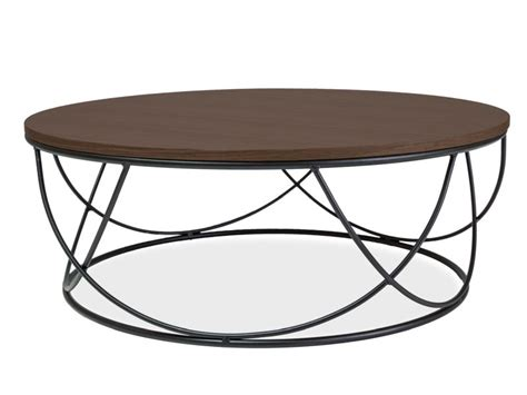 Whether you are looking for a modern rectangular, square, round or an oval extendable dining table set, be sure to choose one that matches the event and desired ambience. Stolik SIGNAL SEPIA I - orzech/czarny 80x80 cm | Round coffee table modern, Round coffee table ...