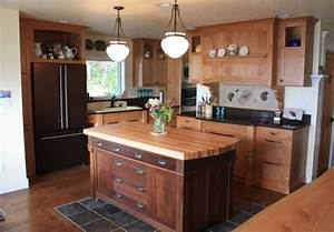Fantastic butcher block kitchen island ideas with kitchen for Kitchen cabinet trends 2018 combined with oil rubbed bronze wall art