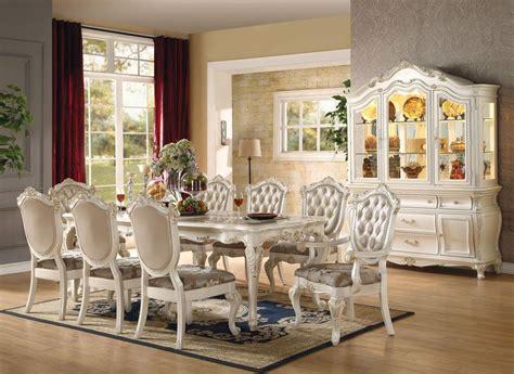 von furniture chantelle formal dining room set  white