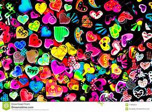 Colorful Heart Shape Isolated On Black Background Stock ...