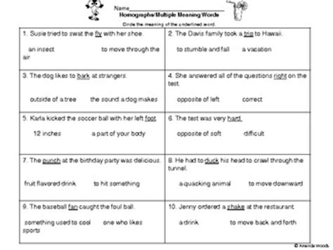 homographs multiple meaning words assessment by amanda woods tpt