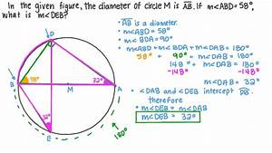 Video  Finding The Measure Of An Inscribed Angle Given The