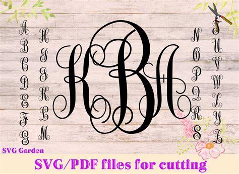 svg font files  cricut silhouette monogram svg letters etsy