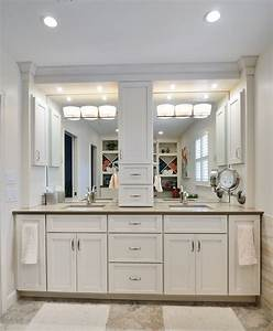 crafty inspiration ideas bathroom vanity with tower linen With bathroom vanities with storage towers