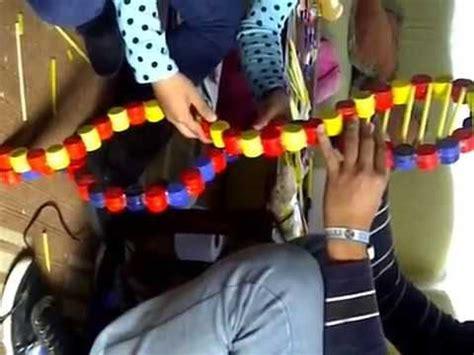 como elaborar una maqueta de adn con materiales reciclados youtube