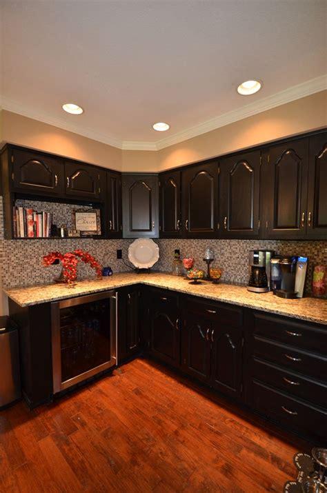 pin  heather andereck  kitchen oak cabinets black