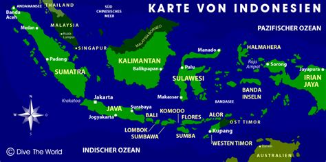 indonesien karte dive  world karten