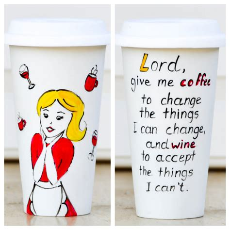 Funny Quote Travel mug Coffee lover gift Wine by PictureInADream