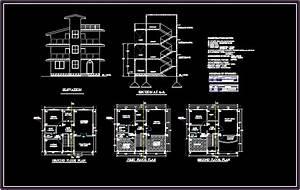 Bungalows 2D DXF Design Section for AutoCAD • Designs CAD