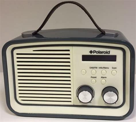 polaroid retro new polaroid db530 retro style dab radio with carry handle