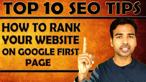 Seo Your Site by Top 10 Seo Tips Rank Your Website In S Page