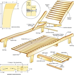 plan de chaise longue en bois ideas free wood chaise lounge chair plans ch