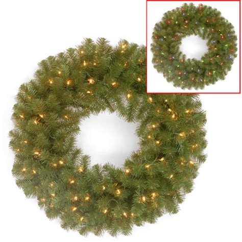 national tree pre lit 24 quot valley spruce wreath with