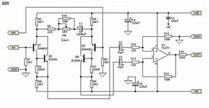Low Noise Balanced Microphone Preamp  Tl071  Circuit