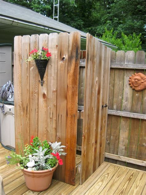 Bathroom Unusual Outdoor Shower Designs For They Who Love