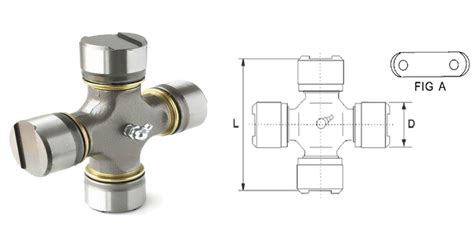 Universal Joint Cross With 4 Thrust Plate Bearing Cups U