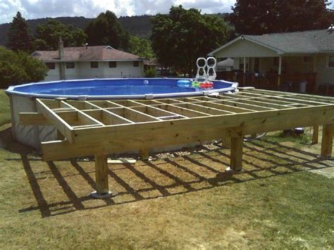 12x16 pool deck plans above ground pool deck framing agp deck question 17 9