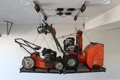 lawnmower garage ceiling storage garage storage