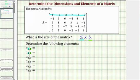 Ex Determine The Dimensions And Elements Of A Matrix