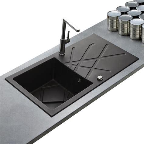 evier de cuisine noir evier de qualité en granit noir de la marque kumbad curuba