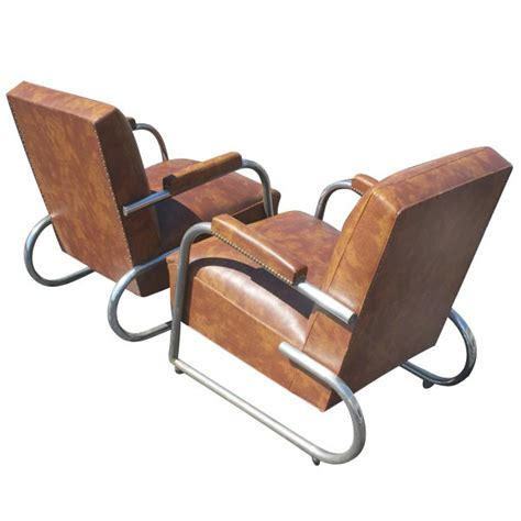 1 1930s deco kem weber style tubular lounge chair ebay