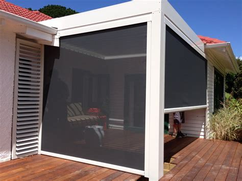 Privacy Blinds by Pvc Screens And Mesh Shade Blinds Louvretec Cafe Style