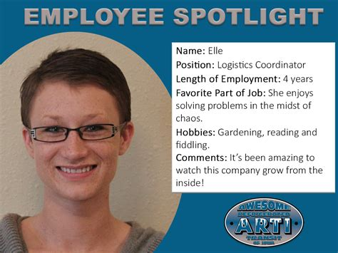 employee spotlight template employee spotlight awesome refrigerated transit of iowa