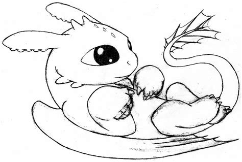 Baby Toothless Dragon Coloring Pages