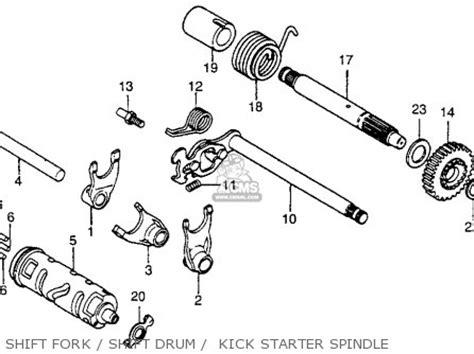 honda xr100 1981 b usa parts lists and schematics
