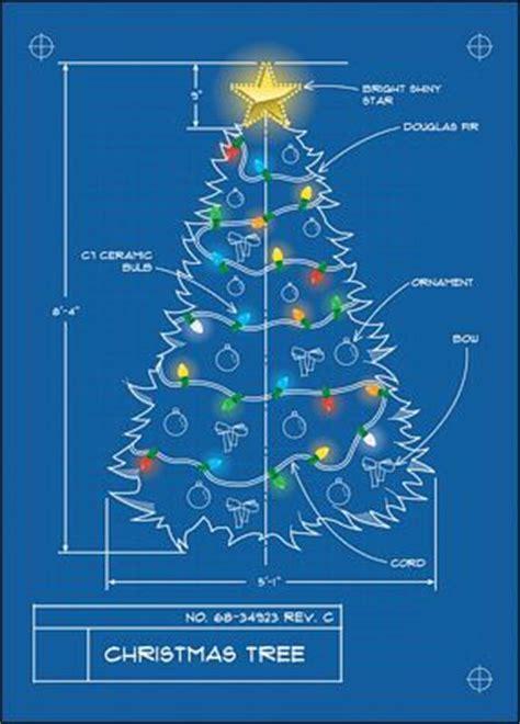 christmas tree blueprint glossy white 00714 christmas trees engineering and engineers