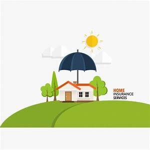 Home insurance services background Vector