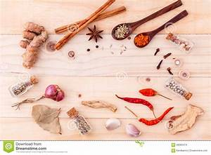 Food Ingredients Background For Menu Design And